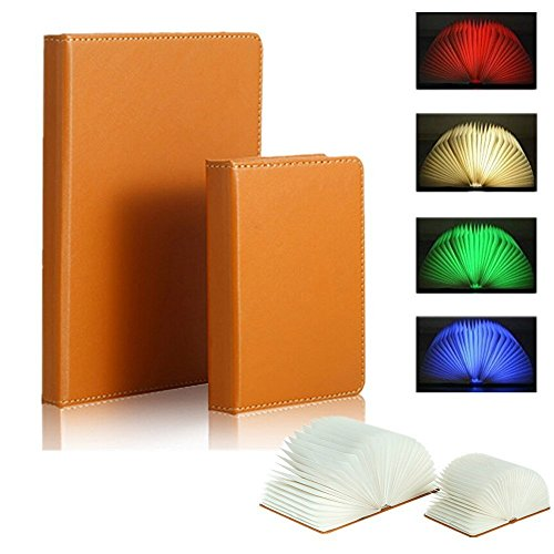 Faltbare-LED-Stimmungsbeleuchtung-Floveme-LED-Lampe-mit-Multi-Farben-vier-Farben-in-einem-Buch-mit-Drucken-auszuwhlen-ideal-als-Buchlampe-Tischlampe-Wandleuchte-Innenbeleuchtung-Tisch-Stehleuchten-Tis
