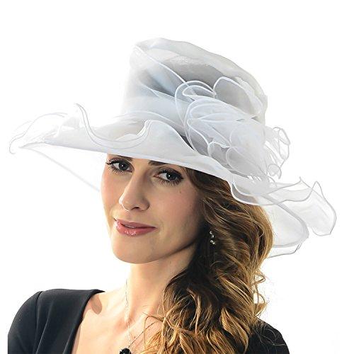 Mujer Sombrero Verano Sol Protección contra Sombreros sombrero Organza  Fascinator Sombrero tapas Bowler sombrero plegable con ec70bc468126