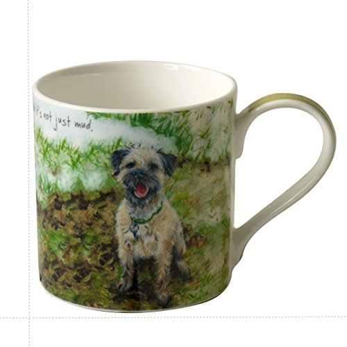 Digs & Manor Archie the Border Terrier dog Boxed Bone China Mug Not Mud 8.5cm x 8.5cm