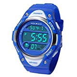 Hiwatch Kids Sport Watch 164 Feet Waterproof LED Digital Watch for Boys Blue