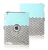 iPad 2/3/4 Case, E LV Apple iPad 2/3/4 Case Cover 360 rotating Lightweight Flip case for iPad 2/3/4 – ZIGZAG