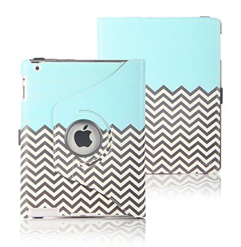 E LV Apple iPad 2 3 4 360 rotating Lightweight Flip Case...