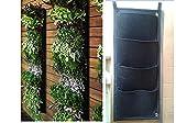 Glovion Vertikal Wand Pflanztaschen Blume Pflanzbeutel Garten kultivieren Taschen Pflanze Tasche (4 Taschen)