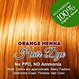 Henna Hair Color – 100% Organic and Chemical Free Henna for Hair Color Hair Care Orange Henna Henna Hair Dye 60 Grams (1 Pac...