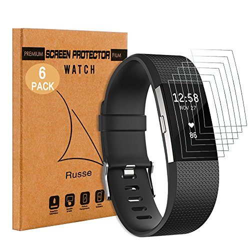 fitbit-charge-2-screen-protector-6-pack-rusee-full-coverage-hd-clear-pet-invisible-anti-scratch-anti