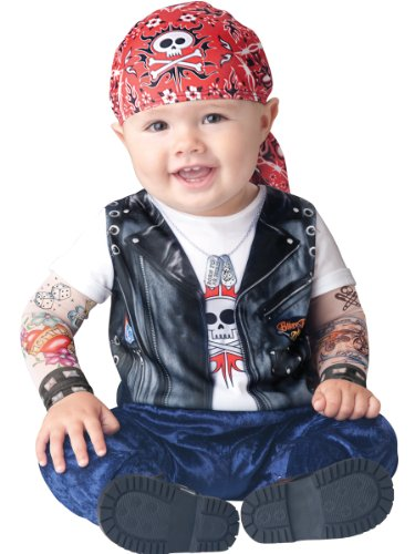 Kostüm Wild Be Born To - Generique - Biker-Kostüm für Babys 80/86 (18-24 Monate)