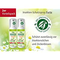 Plantacos Insekten-Schutzspray Forte - 2er Vorteilspack - Mit pflanzlichem Wirkstoff - Schützt zuverlässig vor... preisvergleich bei billige-tabletten.eu