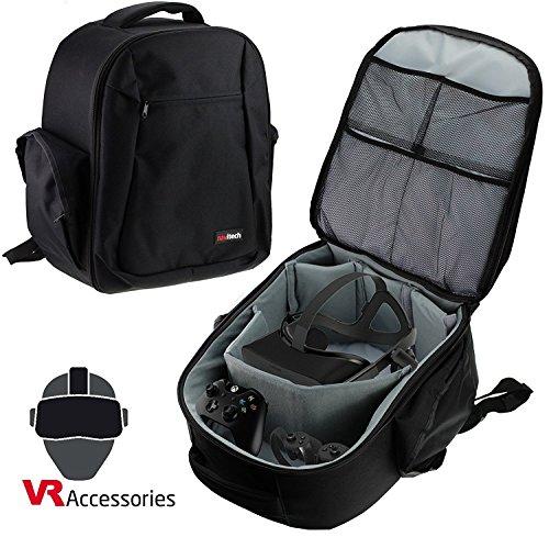 Navitech Hartschalen Reise Schulter Rucksack Backpack Bag Case Kasten für Oculus Rift + Oculus Touch Controller