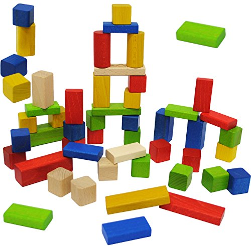 Xl Set _ - große & kleine - Bausteine aus Holz -