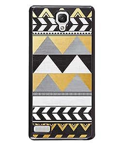 PrintVisa Designer Back Case Cover for Xiaomi Redmi Note :: Xiaomi Redmi Note 4G :: Xiaomi Redmi Note Prime (Black&White Art Triangel Feather)