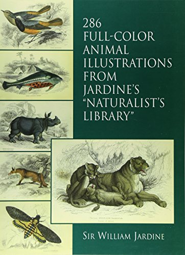 286 Full color animal illustrations from jardine's naturalist library