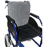 Protector/respaldo para silla de ruedas Suapel | Prevención de las escaras o úlceras por presión | Tacto suave, máximo confort y comodidad | Alivio del dolor en la zona lumbar y reducción de la presión | Medidas: 42 x 40 x 2,5 cm