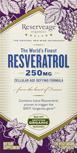 Reserveage Organics - Resveratrol 250 mg - 120 Capsules