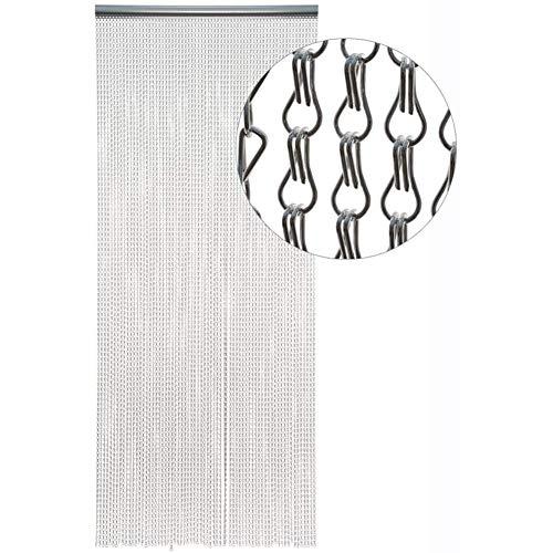 SZIVYSHI scheggia Catena in Alluminio Tenda Metal Screen Fly Insect Pest Control Tende - 10 Anni di Garanzia - Colore: Argento, Dimensioni: 90/214