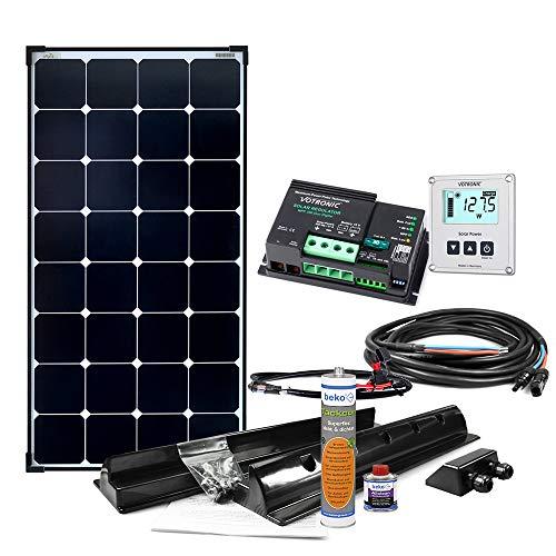 Offgridtec Wohnmobil Solaranlage SPR-100 110W 12V Solar Komplettsystem mit MPPT - DUAL Laderegler