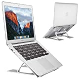 EC Technology Laptop Ständer, Laptopständer, Aluminium Notebook Stander mit Höhenverstellbares Ergonomisch Design Kompatibel mit Apple MacBook, alle Notebooks, Silber