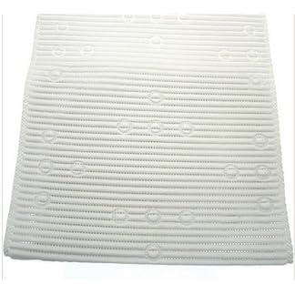 51py1kHT7VL. SS324  - Ability Superstore - Alfombrilla de baño y ducha antideslizante, color blanco