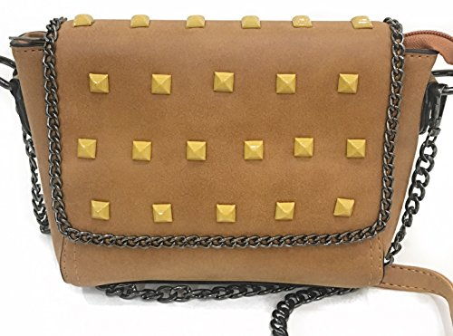 Nirang mustard colur studded with chain detailings sling bag/ purse/handbag for women/girls