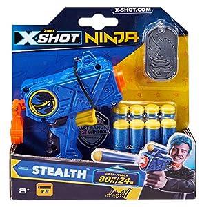 Zuru 36317TQ1 X-Shot Ninja Stealth Blaster - Juego de Dardos y Placas para Perros