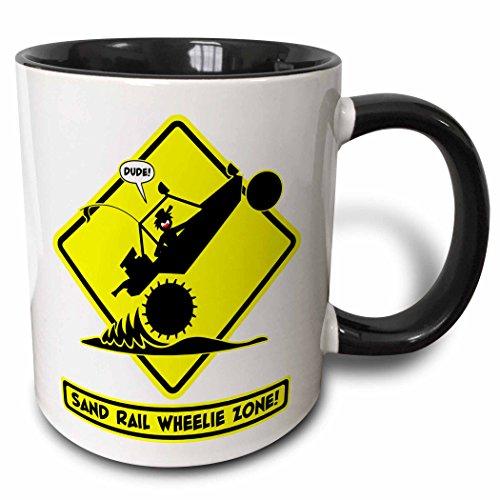 3dRose 160362_9 Mug Becher keramik schwarz/weiß