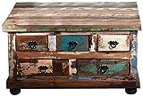 SIT-Möbel 9194-98 Couchtischtruhe, 5 Schubladen, 1 Klappe, 90 x 90 x 47 cm
