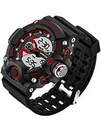 Sanda Fashion Men's Watch Waterproof LED Military Sports Watch Analog Digital Quartz-Watch Relogio Masculino -... - B07BB18LK2