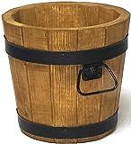evama Holzkübel, Übertopf, Gartenkübel, 100% Holz (B28xH26)