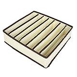 Bonboho Boîtes de Rangement Durable Pliable Tiroir Range-Placards pour sous-Vêtements Culotte Foulard Soutien-Gorge Chaussette Beige-7 Cases 33cmx30cmx9cm