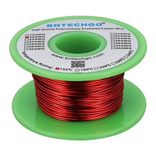 BNTECHGO 20 AWG Magnet Wire - Enameled Copper Wire - Enameled Magnet Winding Wire - 4 oz - 0.0315'...
