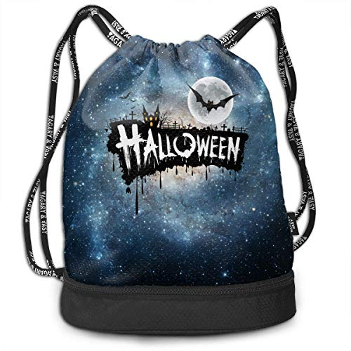 Design Unisex Waterproof Drawstring Backpack Rucksack Yoga Dance Travel Shoulder Bags ()
