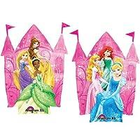 Palloncino Principesse Disney sagomato castello Originalissimo questo castello da gonfiare ad elio, con immagine Principesse, torri e bandierine Misure: 89cm
