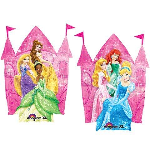 Disney Folienballon Princess Prinzessin SuperShape - XL Prinzessinnen vor Schloss unbefüllt