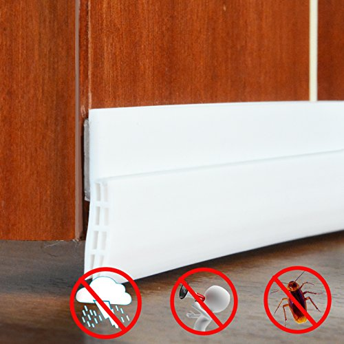 Zugluftstopper - Selbstklebende Tür Türdichtung Dichtungsstreifen Zugluftstopper gegen Insekt Ersatzdichtung Wetterfest Tur Zugluftstopper fur turen Schalldichtung Silikon Türstopper 100cm*4cm