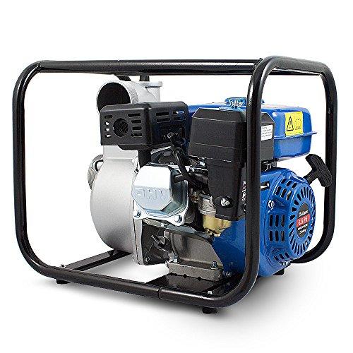 BITUXX® Benzin Schmutzwasserpumpe Wasserpumpe Motorpumpe Kreiselpumpe Gartenpumpe Teichpumpe 6,5PS, 60.000l/h, max. Förderlänge 36m, 3Zoll Anschluss - 2