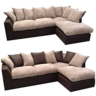 Infinity Corner Sofa (Right hand corner unit) in Mink Jumbo Cord and Chocolate with reversible back cushions. (B00ADJSYLU) | Amazon price tracker / tracking, Amazon price history charts, Amazon price watches, Amazon price drop alerts