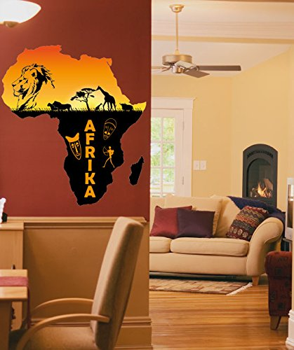wall-sticker-no-771-african-continent-size-58-x-65-cm-wall-wall-sticker-africa-lion-giraffe-sticker-