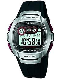 Casio - Unisexe - W-210-1D - Sports - Quartz Digital LCD - Cadran Gris - Noir - Résine