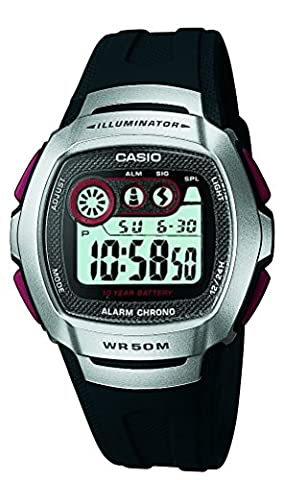Casio Unisex Armbanduhr Collection Digital Quarz Schwarz Leder La-670Wegl-1Ef