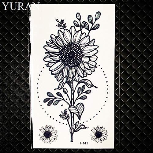 Temporäre Tätowierung Aufkleber Blume Frauen Dekor Hände Flash Tatoos Brief Kleine Armband Brief Tattoo Worte, Gt141 ()