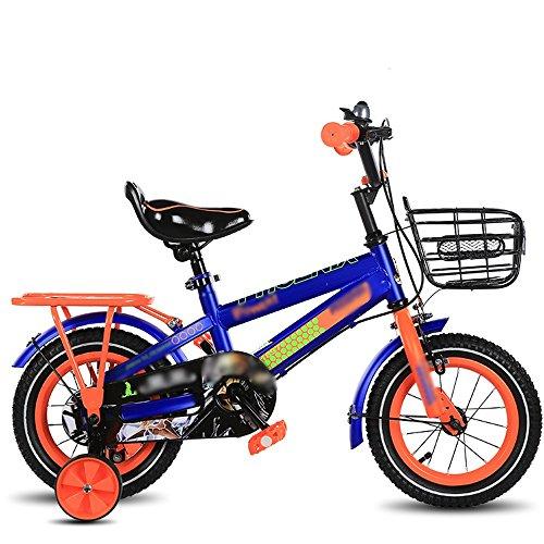 Feifei Kinder Fahrrad, Größe Optional 12 Zoll, 14 Zoll, 16 Zoll, 18 Zoll Blau, Rot, Gelb Baby Fahrrad Verstellbarer Sitz Sicherheitsschutz (Farbe : Blau, größe : 16 inch) -