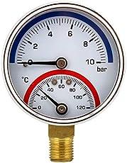 feitex G1/4 Bar Temperature Pressure Gauge