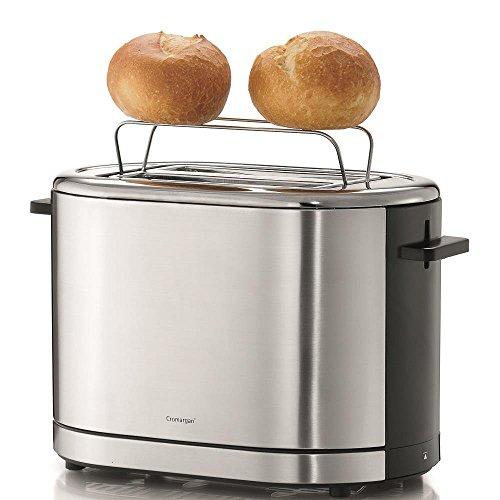 WMF LONO Toaster, 7 Bräunungsstufen, Brötchenaufsatz, Krümelschublade, 900 W, cromargan poliert -