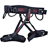 FNT Adjustable Half Body Climbing Harness Safety Seat Belt For Rock Climbing Mountaineering Aerial Work Rappelling Rescue Gear Equipment