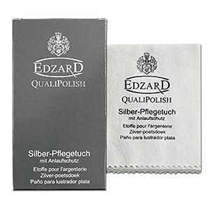 EDZARD QualiPolish® Silber-Pflegetuch, Größe 30 x 45 cm