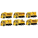 Laxmi Collection (Pack Of 6) Cargo/Dump Truck Set,Return Gifts For Kids Birthday Party (for More Gifts Search For Laxmi Collection)