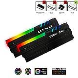 EZDIY-FAB 12V RGB Speicher RAM Kühler DDR Kühlkörper für DIY PC Spiel Overclocking MOD DDR3 DDR4 (kompatibel mit ASUS Aura Sync, MSI Mystic Light Sync,...