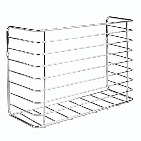InterDesign 48910EU Classico Küchenschrank-Organizer für Gefrierbeutel / Frischhaltefolie / Aluminiumfolie, Stahl, chrom, 29.8 x 10.3 x 20.8