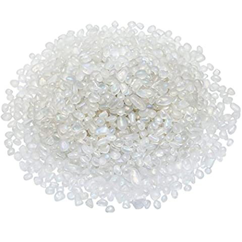 Shanxing Tumbled Chips Stones,Crushed Stone Tumblestone Crystals Healing Home Decoration,Angel Aura Quartz Crystal(1 pound,about 460 gram)