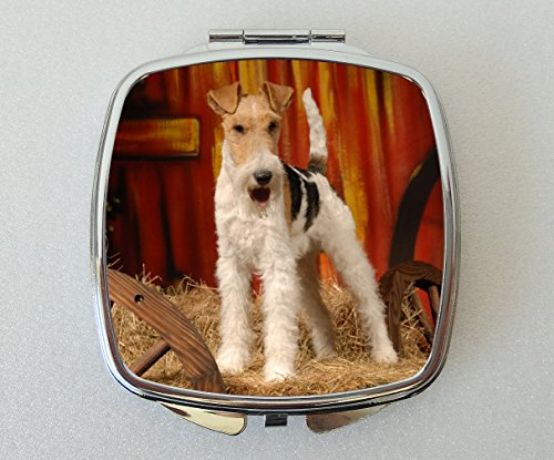 Starprint Sublimation Wire Fox Terrier Miroir Compact Fantaisie Cadeau