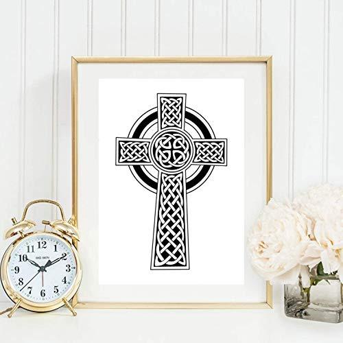 Din A4 Kunstdruck Kruzifix Keltisches Kreuz Geschenk Druck Poster Deko Bild